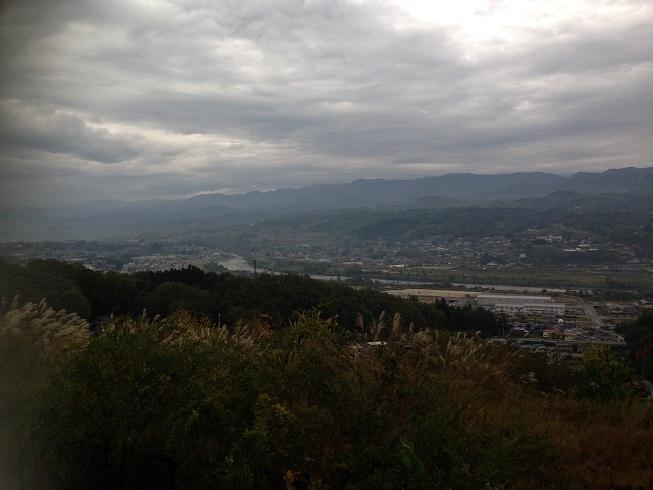 城山から天竜川を