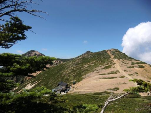 根石岳と山荘