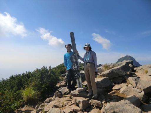 横岳山頂で