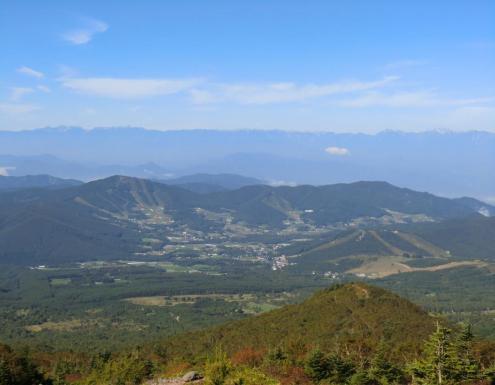 穂高連峰から後立山連峰