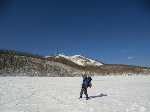 小沼氷上から地蔵岳