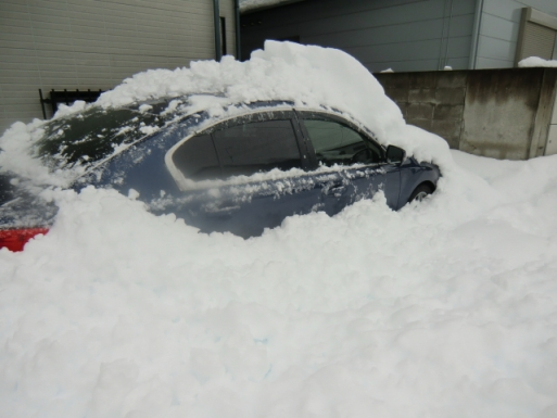 車は埋もれるだけ