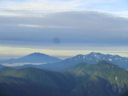 乗鞍岳と御嶽山