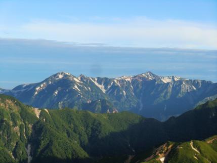 鷲羽岳、水晶岳