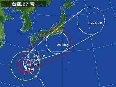 天気図台風