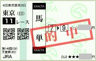 2013 天皇賞秋 馬単