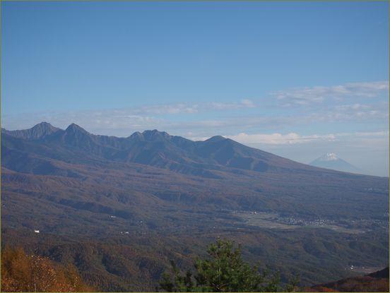 八ヶ岳と富士山だにぃ