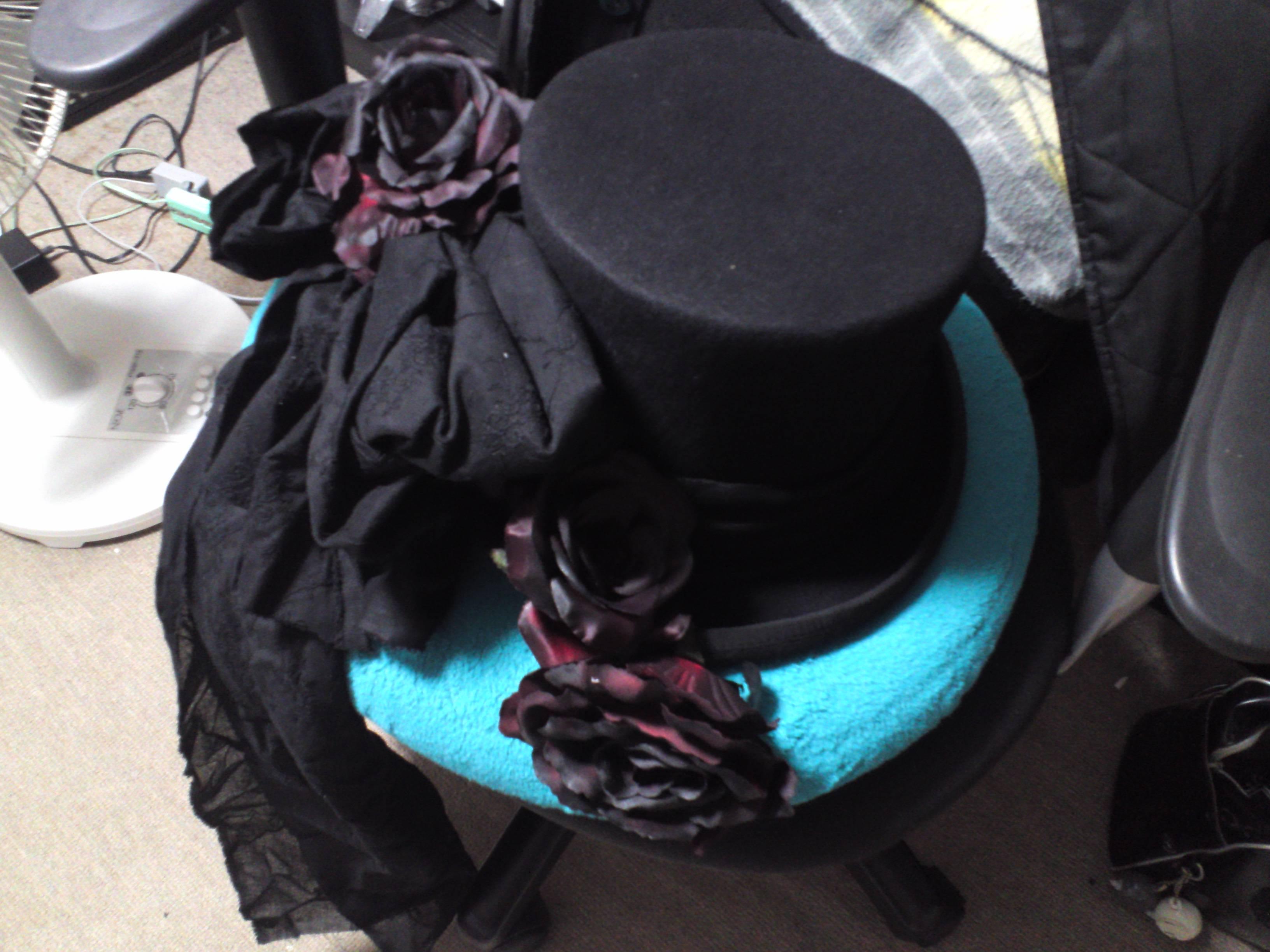 黒薔薇帽子
