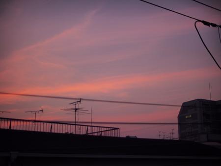 8月9日の夕陽
