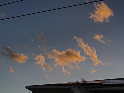 台風一過の夕景