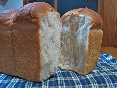 湯種パン 断面