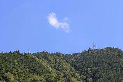 青い空に雲1つ