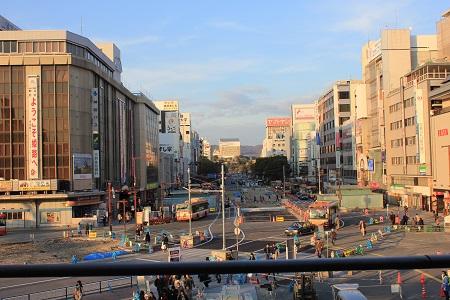 姫路駅テラスから