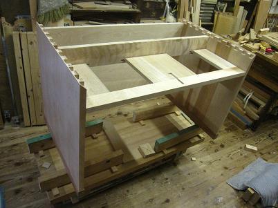 桜の書斎机、構造
