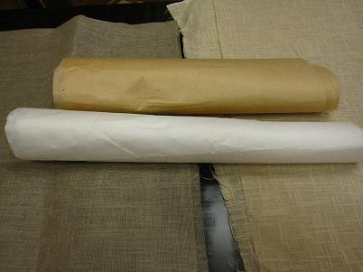 こんな布や和紙を着せて漆を塗ります