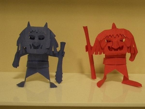 ハート 折り紙 : 折り紙 おに : kiriorigami.blog.fc2.com