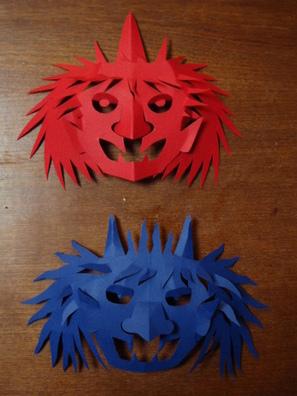 ハート 折り紙 折り紙 おに : kiriorigami.blog.fc2.com