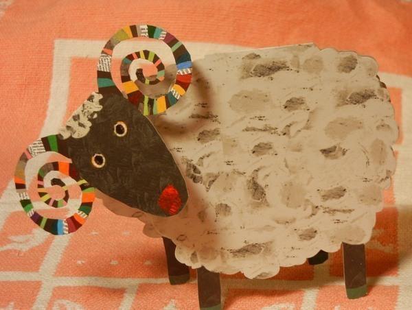 ハート 折り紙:折り紙 羊 立体-kiriorigami.blog.fc2.com