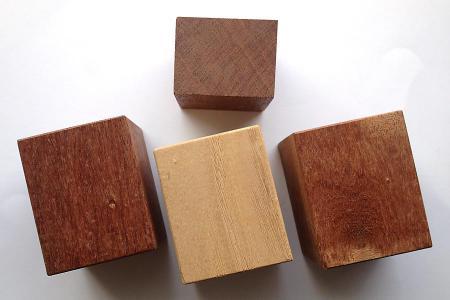 カリンの木工材