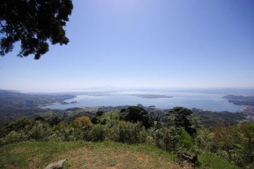 火神岳に蛸島と蜈蚣島