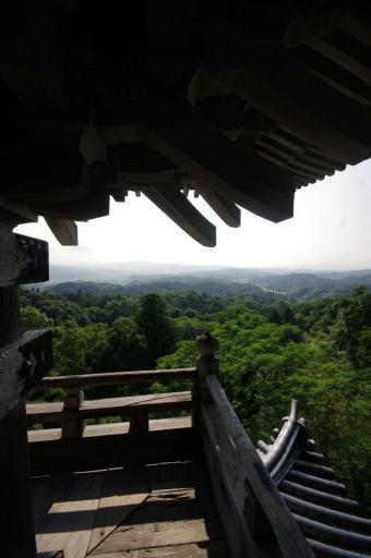 清水寺三重塔最上層から風景