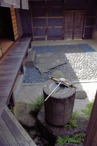 熊谷家の夏のしつらえと手水