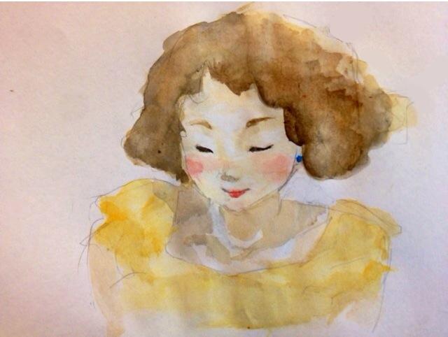 黄色い婦人