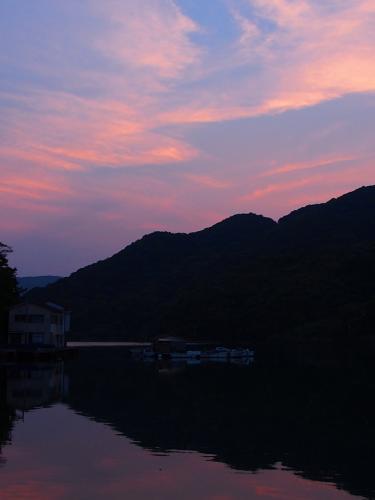 浦内湾の夕焼け