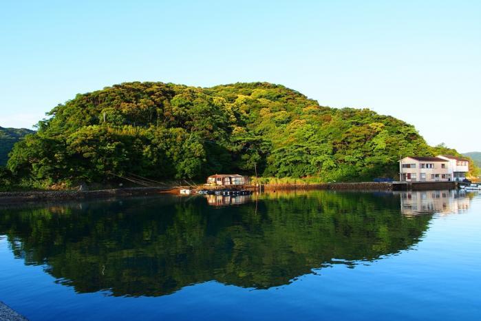 朝の湾 2