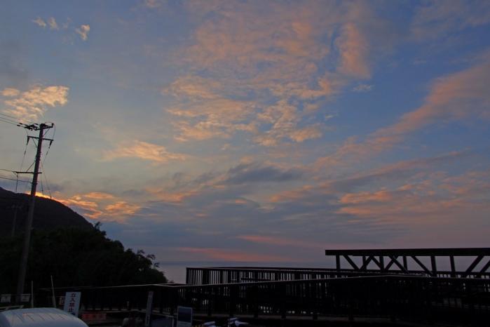 長目の浜の夕空
