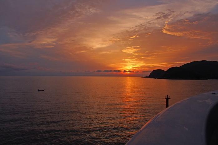大明神橋から夕景を