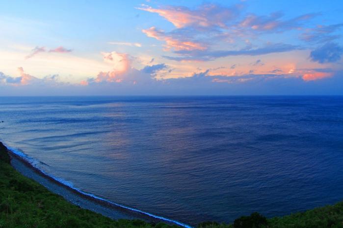 長目の浜 夕暮れ