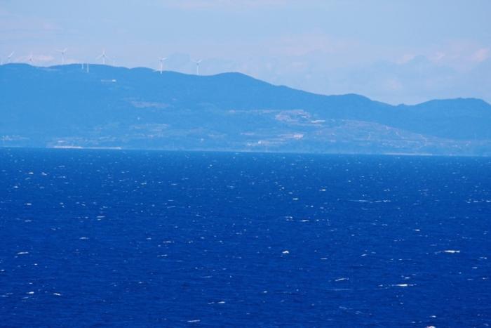 長島町と風力計
