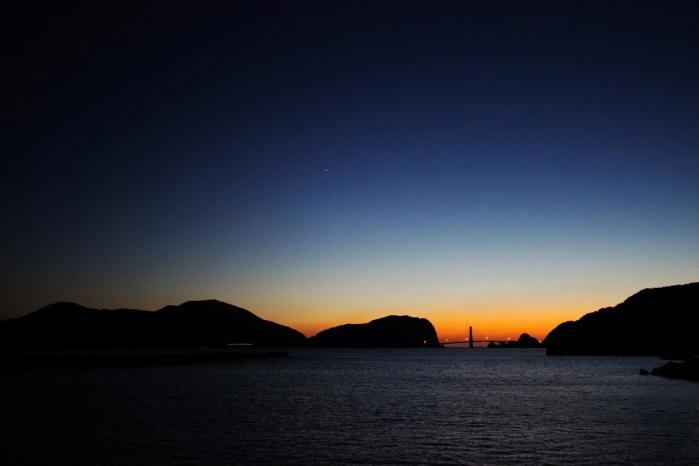 大明神橋の夕暮れ