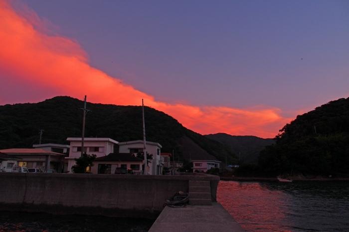 夕景 南の空