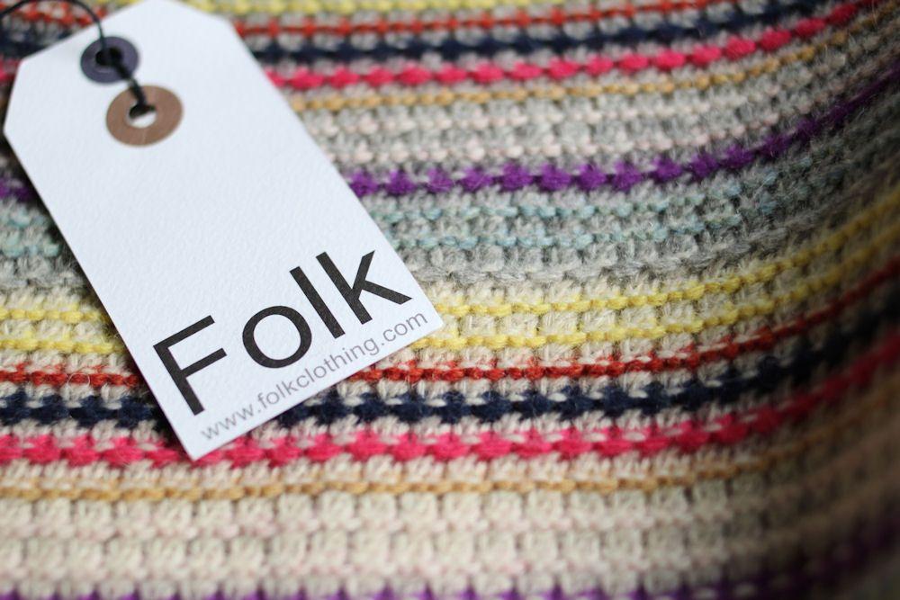 Folk Clothing Tuck Up Crew/フォークのニット。
