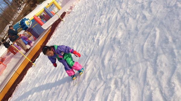 みきの初スキー