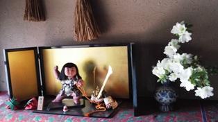 5月15日サツキと五月人形B