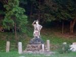 桃太郎 犬、猿、キジを家来に・境内の像