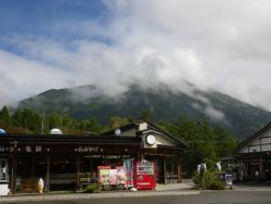 三本松茶屋からの男体山