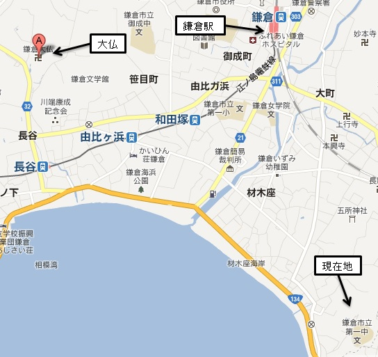 鎌倉周辺の地図的なあれ