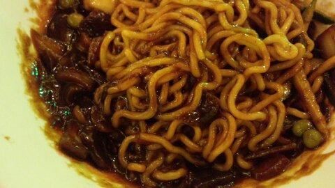 ドラゴンスパジャージャー麺③