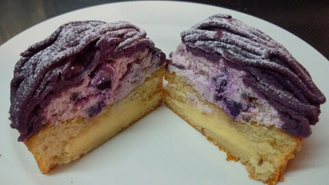コージーコーナー紫芋モンブラン③