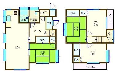 平須町中古住宅1,480万 間取図