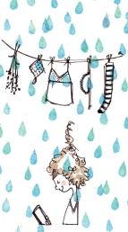イラスト(雨の日)