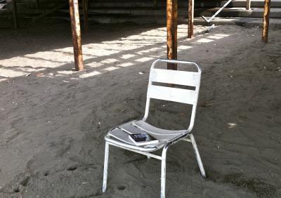 ビーチハウスの椅子
