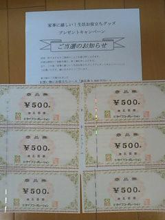 ライフ商品券3,000円