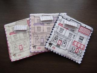 ルルギネス/ポケット付き刺繍タオルハンカチ1