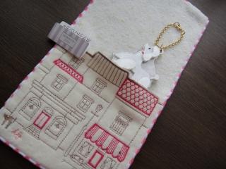 ルルギネス/ポケット付き刺繍タオルハンカチ3
