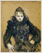 ロートレック(黒いボアの女)
